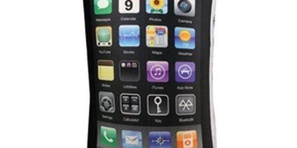 Polštář připomínající mobilní telefon iPhone