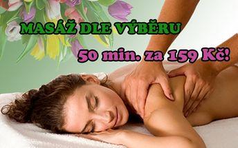 50 min. profesionální intenzivní masáže pro vaše zdraví! Aromaolejová masáž, KLASICKÁ MASÁŽ ZAD nebo Masáž lávovými kameny! Zaměřte se přímo na to, co vás trápí, si jakou masáž chcete ve studiu Lužická v samém centru Prahy!!