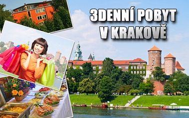 Královský KRAKOV - 3 denní RELAX pro 2 se snídaní! V ceně bazén, vířivka, sauna, fitness centrum, kulečník! Poznejte krásy Krakova jako zámek Wawel nebo solné doly Wieliczka památka na seznamu UNESCO!!