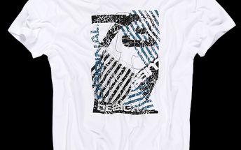 Pohodlné pánské tričko SAM 73 MT 346 000 s moderním tištěným logem