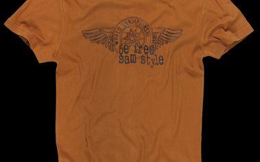 SAM 73 Pánské tričko MT 355 310 - okrová tmavá