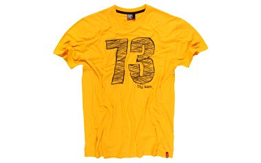 Okrové pánské tričko SAM 73 MT 348 305 oblíbeného střihu