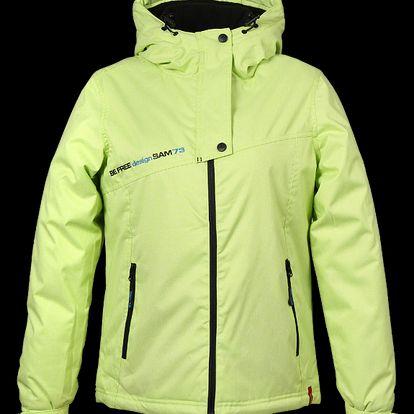 Dámská jasně žlutá bunda SAM 73 WB 206 320 atraktivního střihu
