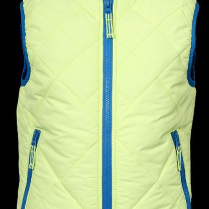 Jasně žlutá chlapecká vesta SAM 73 BB 22 320 s kapucí