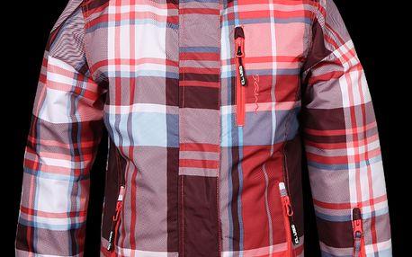 Dívčí bunda SAM 73 GB 23 150 sportovního střihu v moderním kostkovaném designu
