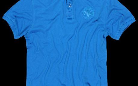 Pánské tričko s límečkem SAM 73 MT 345 220 v jasně modré barvě