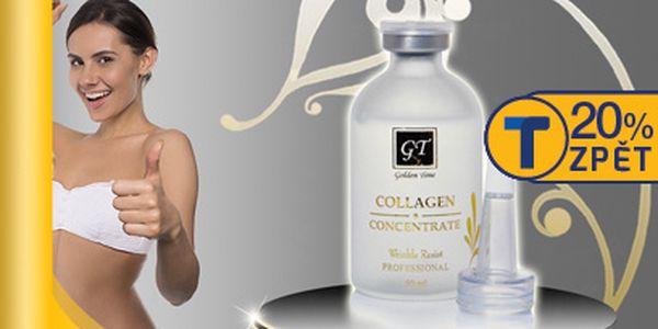 699 Kč za čistý rybí kolagenový koncentrát Golden Time 50 ml! Uberte si snadno pár let!