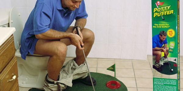 Golf na WC - zkraťte si čekání, originální dárek