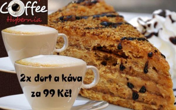 SLADKÉ MENU SNŮ PRO DVA: dva dorty podle výběru a dva šálky pravé italské kávy! Navštivte útulnou kavárnu v samém centru Prahy 1 u metra Náměstí Republiky a pochutnejte si na čerstvých dezertech a voňavé kávě!