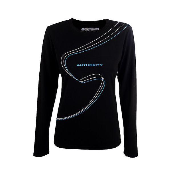 Dámské černé funkční tričko Authority