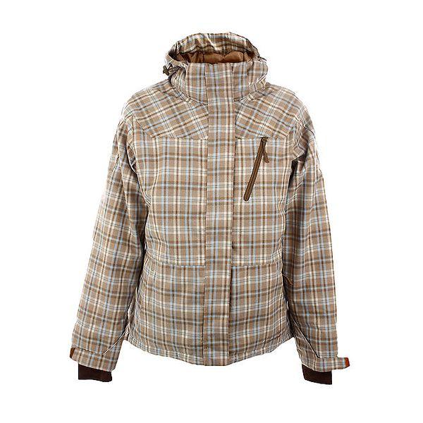 Dámská hnědo-béžová károvaná bunda Authority s kapucí