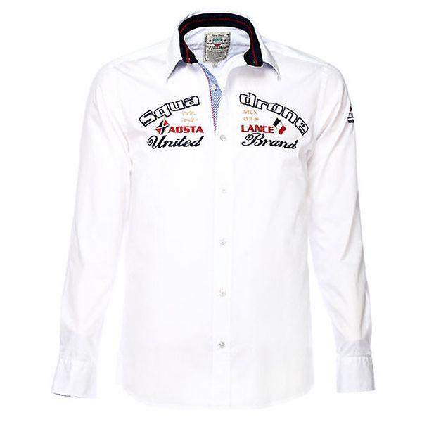 Pánská bílá košile s výšivkami M. Conte