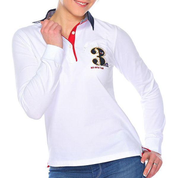 Dámské bílé polo triko s číslicí M. Conte