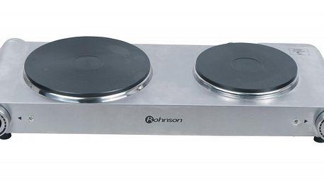 Celonerezový dvouplotýnkový vařič ROHNSON R 242