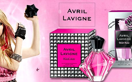 2 vůně Avril Lavigne - EDP Wild Rose a Black Star