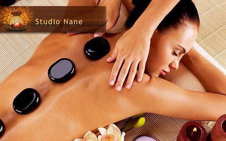 Hodinová masáž lávovými kameny + masáž hlavy jako dárek
