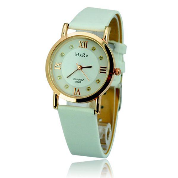 Zlato-bílé hodinky s římskými čísly a poštovné ZDARMA! - 7508424