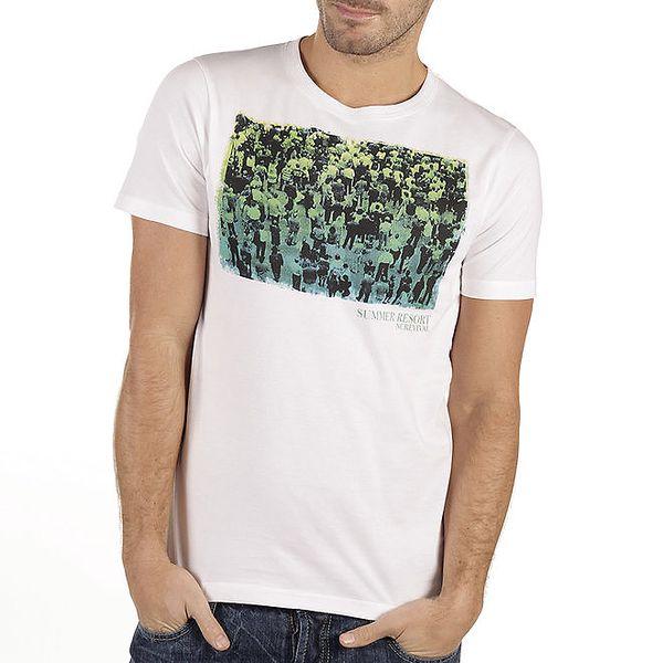 Pánské bílé tričko s potiskem New Caro
