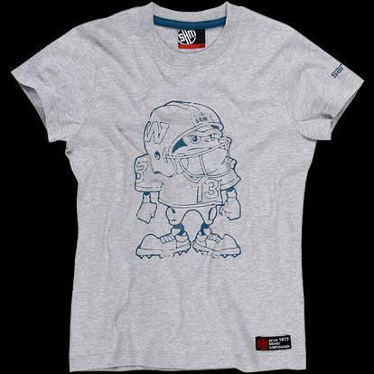 SAM 73 Chlapecké triko BT 35 401M - šedý melír světlý