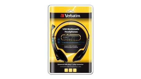 Přenosná sluchátka s mikrofonem pro VoIP Verbatim 41822, černá