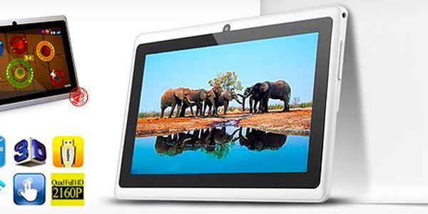Multimediální 7palcový velmi tenký tablet v bílé nebo černé barvě