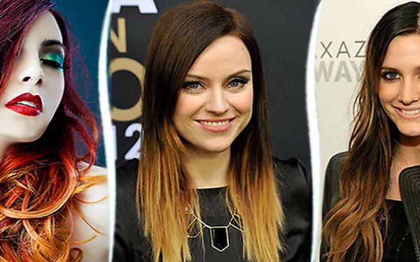 Moderní barvení vlasů Ombre Hair Color v centru