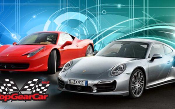 Zažijte jízdu v SUPERSPORTU za akční ceny od 999 Kč s TopGearCar Race! Poznejte sílu italského hřebce ve vozech Ferrari, svezte se Nissanem GT*R nebo usedněte za volant divokého Ford Mustangu GT-CS + mnoho dalších!