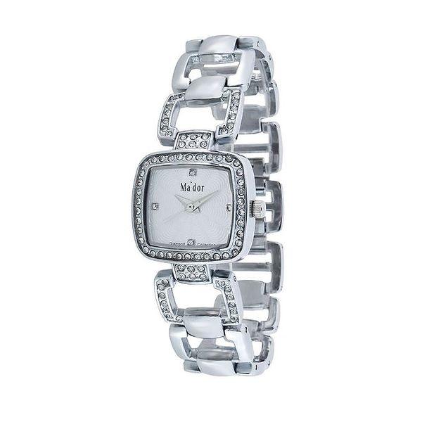 Dámské hodinky s bílým ciferníkem Ma´dor