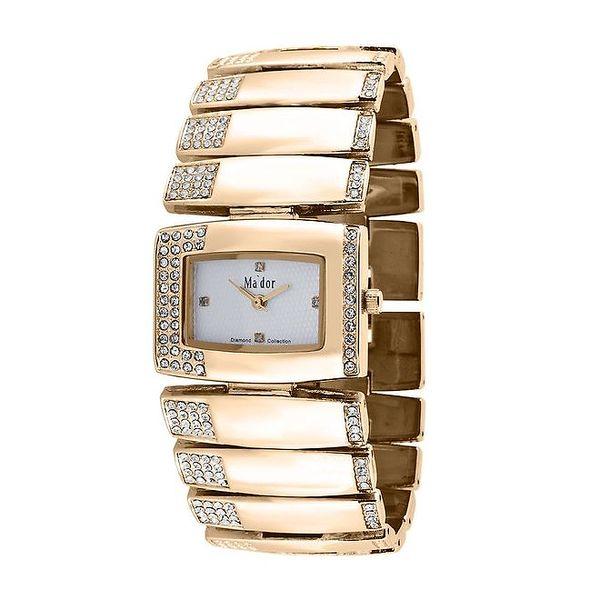 Dámské zlaté náramkové hodinky Ma´dor