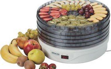 Sušička na ovoce Sencor SFD 128E – suší ovoce, zeleninu, bylinky, maso a jiné druhy potravin