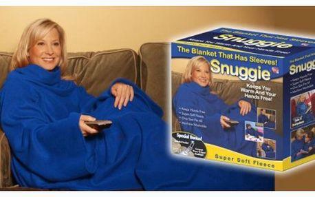 Jedinečná deka snuggie s rukávy. Neuvěřitelně pohodlná, hřejivá, měkká deka s rukávy se slevou 60%