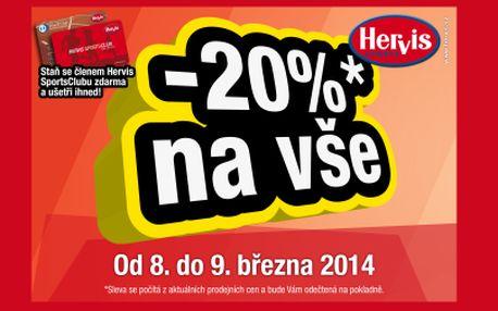 -20% na VŠE pro členy Hervis Clubu