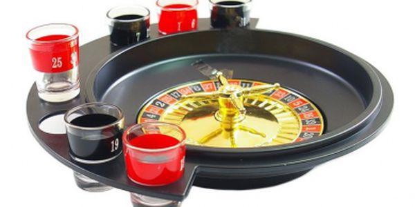 Alkoholová ruleta s 6 panáky za nejluxusnější cenu v historii - jen 149 Kč! Zabavte se na párty!!
