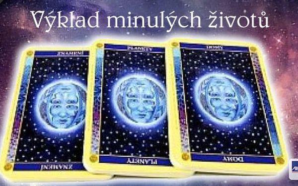 Výklad minulých životů pomocí karmických karet, které utvoří astroloigcko-esoterický obraz o minulých životech a jejich vliv na současný. Výklad je určen zejména pro poznání vlastního hlubšího potenciálu a životního nasměřování.