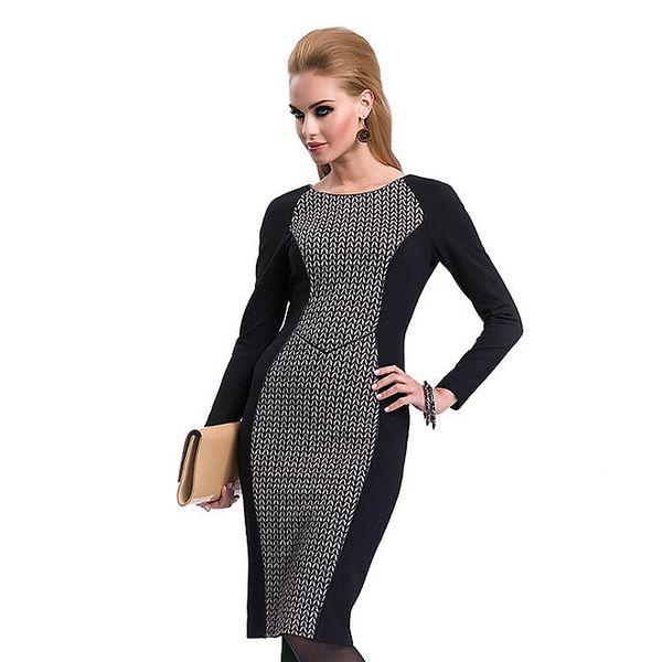 Dámské černé pouzdrové šaty Zaps