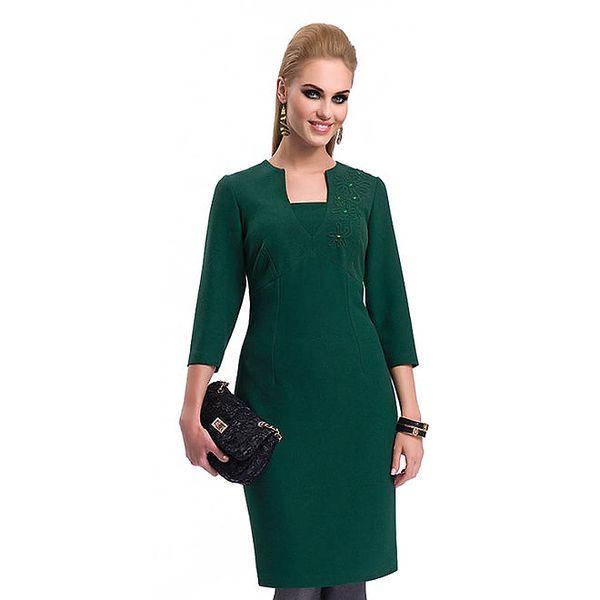 Dámské tmavě zelené pouzdrové šaty Zaps