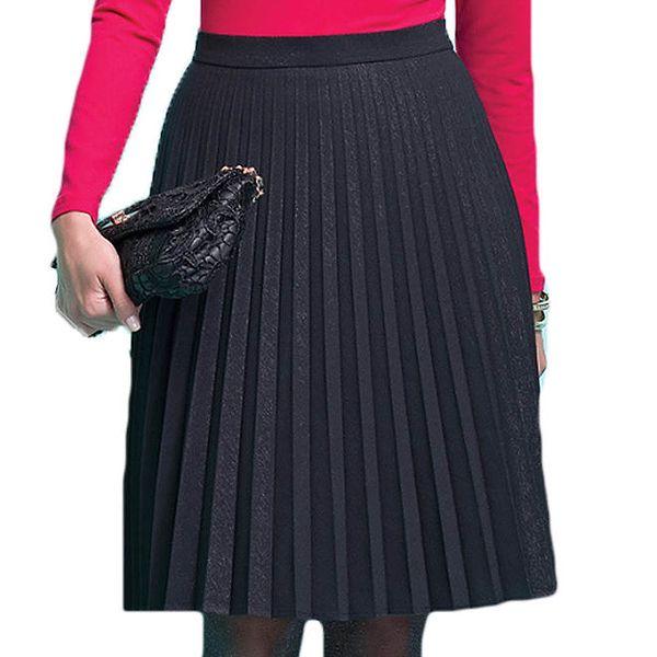 Dámská černá plisovaná sukně Zaps