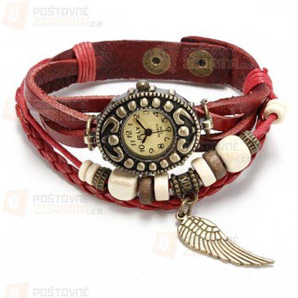 Vintage retro hodinky - koženkový pásek a poštovné ZDARMA! - 13008481
