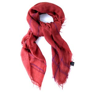 Dámský korálově červený šátek Belle & Bloom