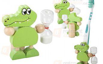 Stojánek na zubní kartáček ve tvaru krokodýla a poštovné ZDARMA s dodáním do 3 dnů! - 30208401