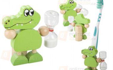 Stojánek na zubní kartáček ve tvaru krokodýla a poštovné ZDARMA s dodáním do 3 dnů! - 30608401