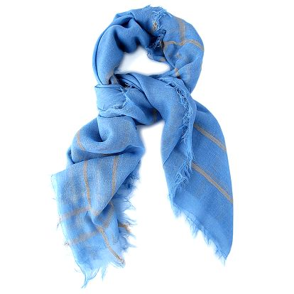 Dámský modrý šátek Belle & Bloom