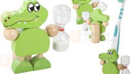 Stojánek na zubní kartáček ve tvaru krokodýla a poštovné ZDARMA s dodáním do 3 dnů! - 31008401