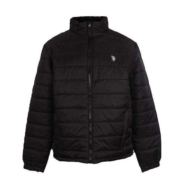 Pánská prošívaná černá bunda U.S. Polo