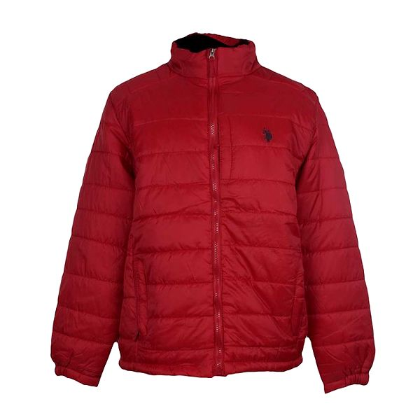 Pánská prošívaná červená bunda U.S. Polo