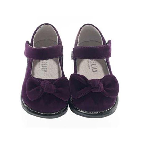 Fialové botičky s mašličkou