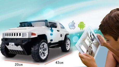 Propracovaný RC Hummer ovladatelný jednoduše Vaším smartphonem nebo tabletem za poloviční cenu! Moderní stylová hračka pro malé i velké za pouhých 1699 Kč!