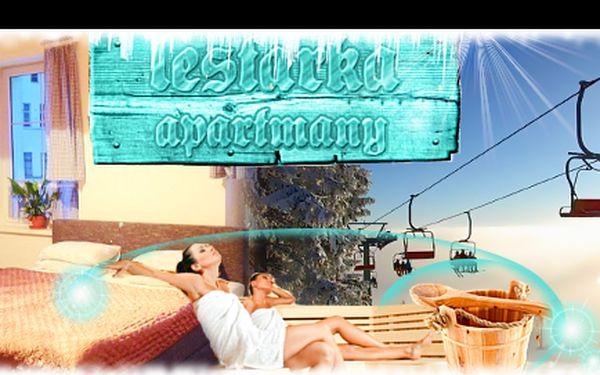 Horský RELAX na 3 nebo 4 dny nedaleko HARRACHOVA včetně bohaté POLOPENZE se slevou 53 %: Prožijte odpočinkovou dovolenou, s ubytováním v apartmánech LESTARKA, 90 minut saunování!