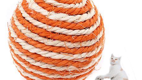 Sisálový hrací míček pro kočky a psy a poštovné ZDARMA! - 8808478