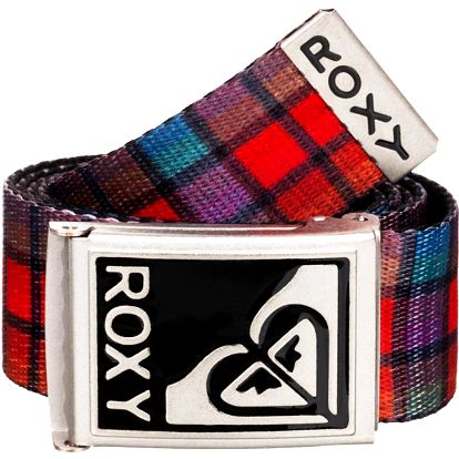 Roxy Opasek Surfing Spot Plaid Small Priminal Hot Coral WTWBL101-MKZ2